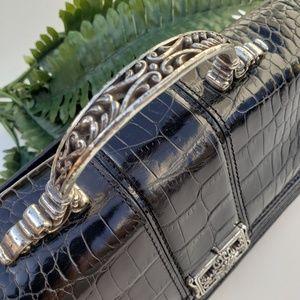 Brighton Bags - Brighton Vintage Black Leather Handbag with Strap
